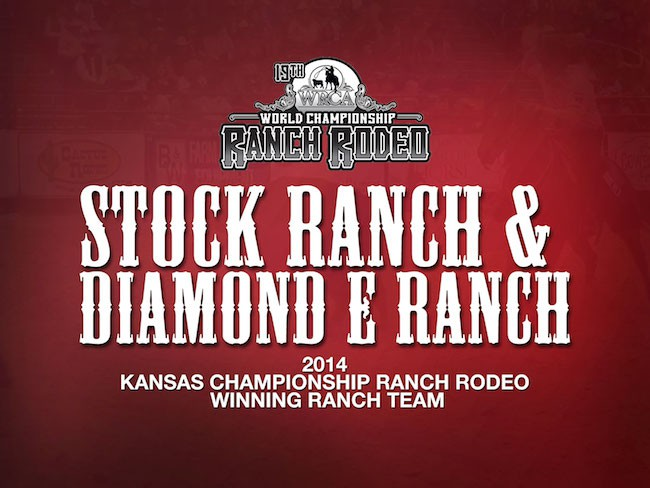 2014 Kansas Championship Winning Ranch Stock Ranch and Diamond E Ranch - WRCA