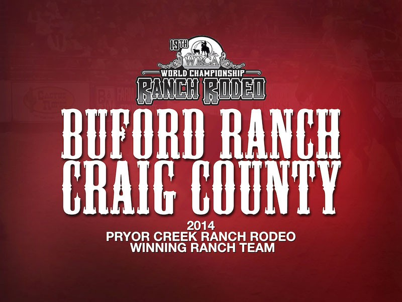 2014 Pryor Creek Ranch Rodeo Results - Buford Ranch Craig County - WRCA