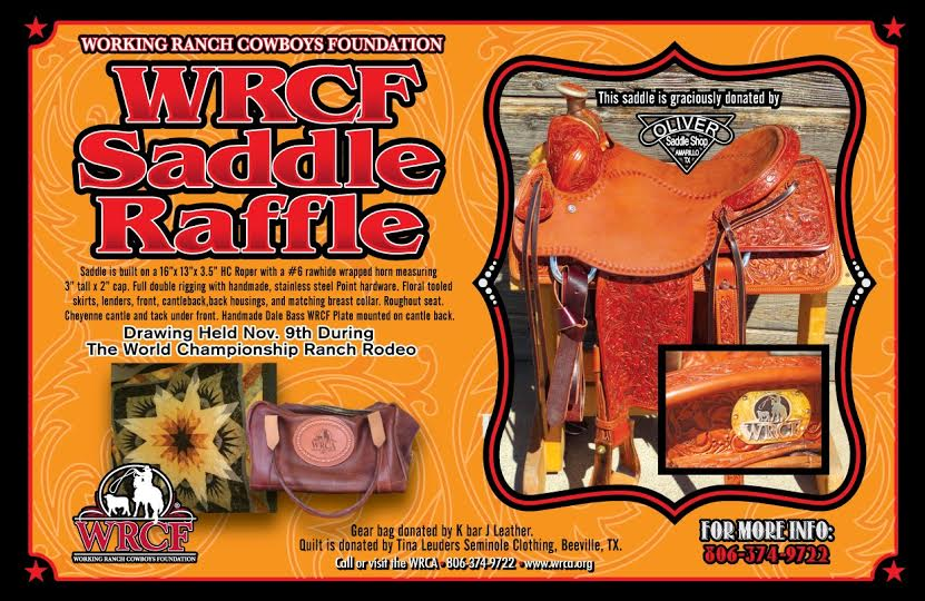 2014 WRCF Saddle Raffle - WRCA