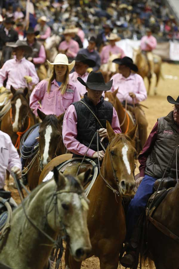 The Amarillo Civic Center arena was a sea of pink on Friday, as the World Championship Ranch Rodeo promoted breast cancer awareness through the Punchy in Pink night. Punchy in Pink is an initiative that helps ranch women battling breast cancer.