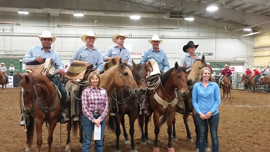 2016 Green Country Classic Ranch Rodeo Second Place Ranch Team Shad Beebe, Evan Wells, Israel Guerreo, John Crowder, Jet McCoy