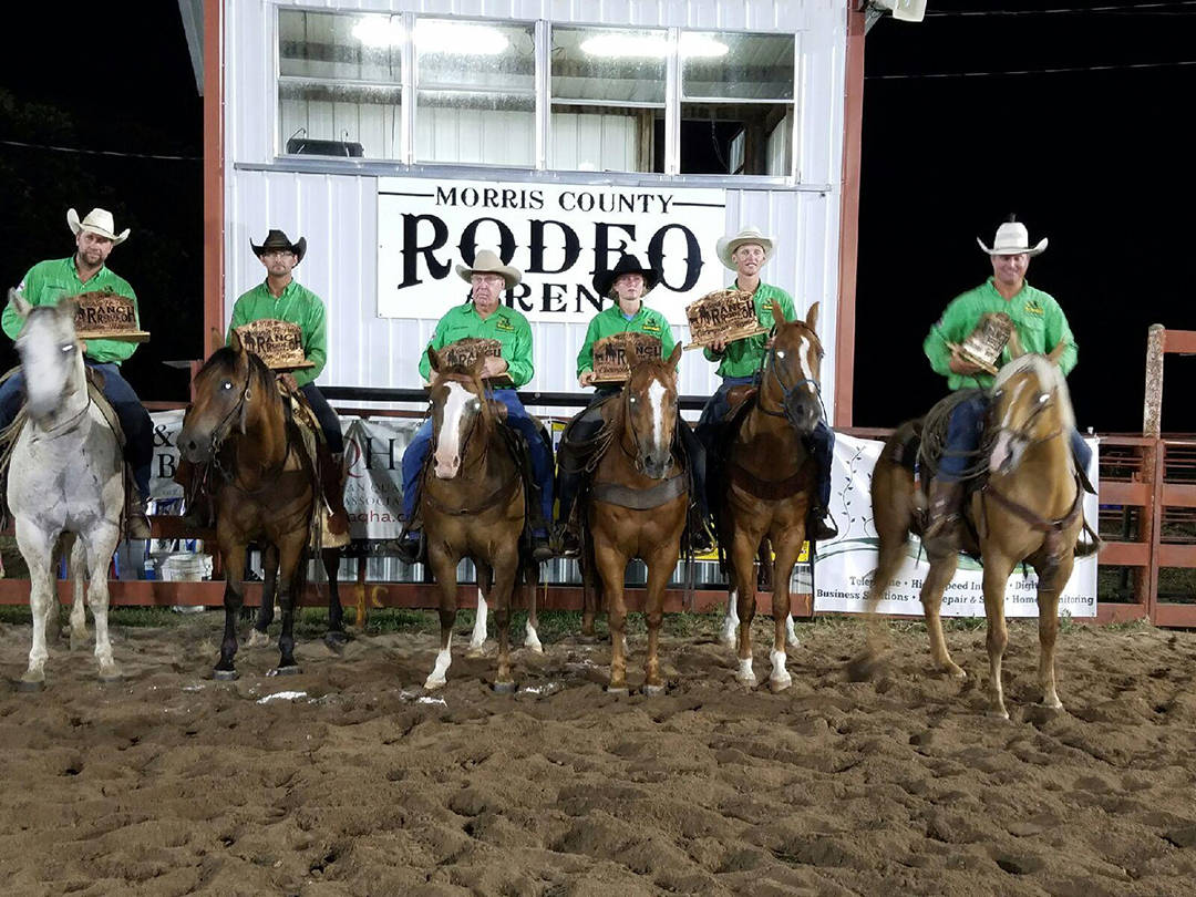 2016 Santa Fe Trail Ranch Rodeo Winning Ranch Team - Lonesome Pine