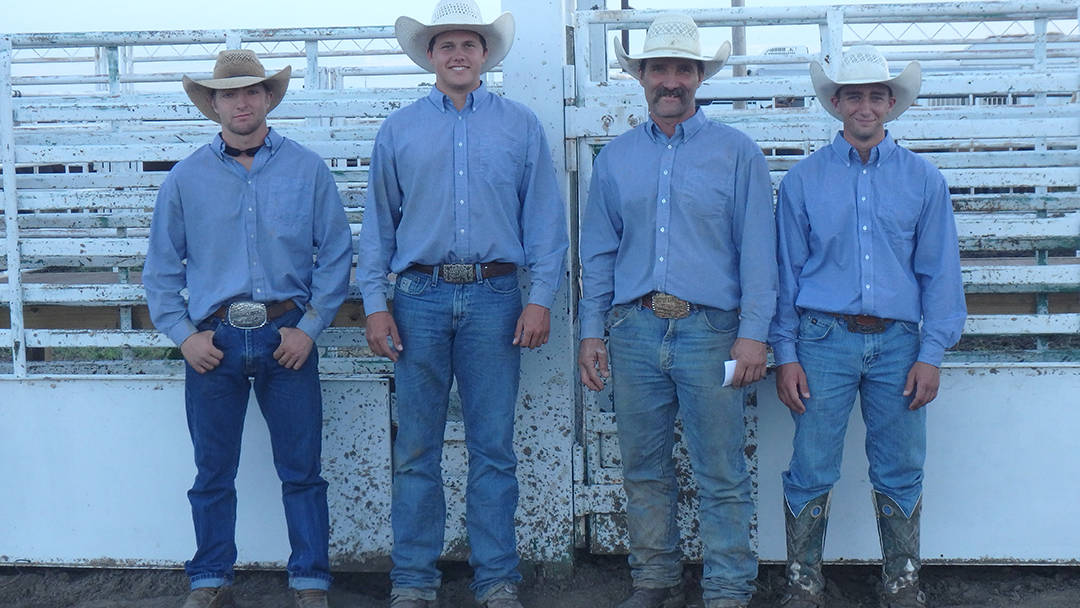 2016 Meade County Fair Ranch Rodeo 2nd Place Ranch Team - Beachner Bros. Livestock