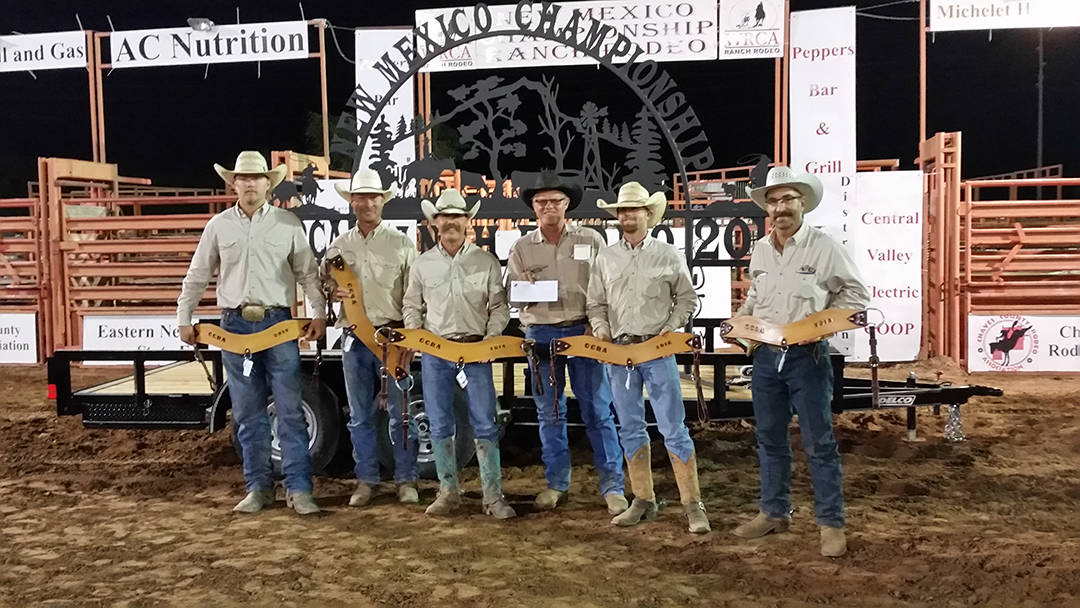 2016 New Mexico Championship Ranch Rodeo 2nd Place Ranch Team -  LBJ Custom Cattle & Durrett Cattle