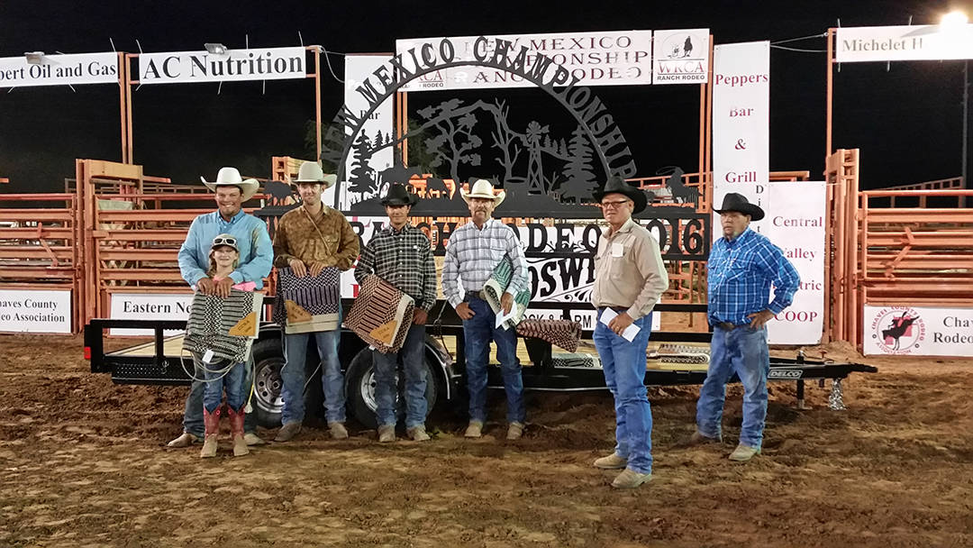 2016 New Mexico Championship Ranch Rodeo 3rd Place Ranch Team -  D&S Cattle