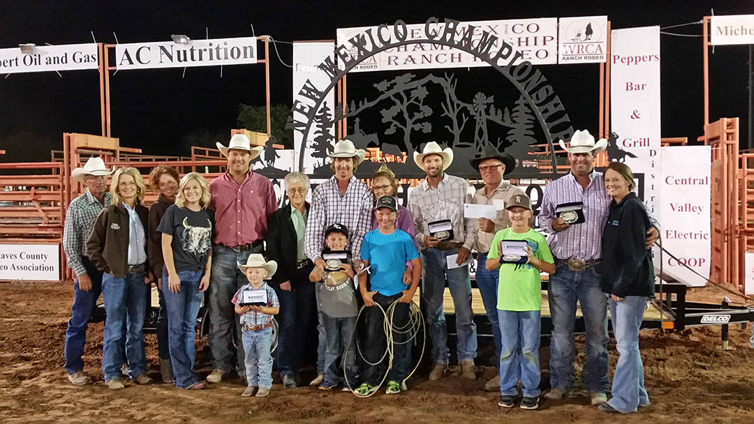2016 New Mexico Championship Ranch Rodeo Winning Ranch Team - Smith Ranch