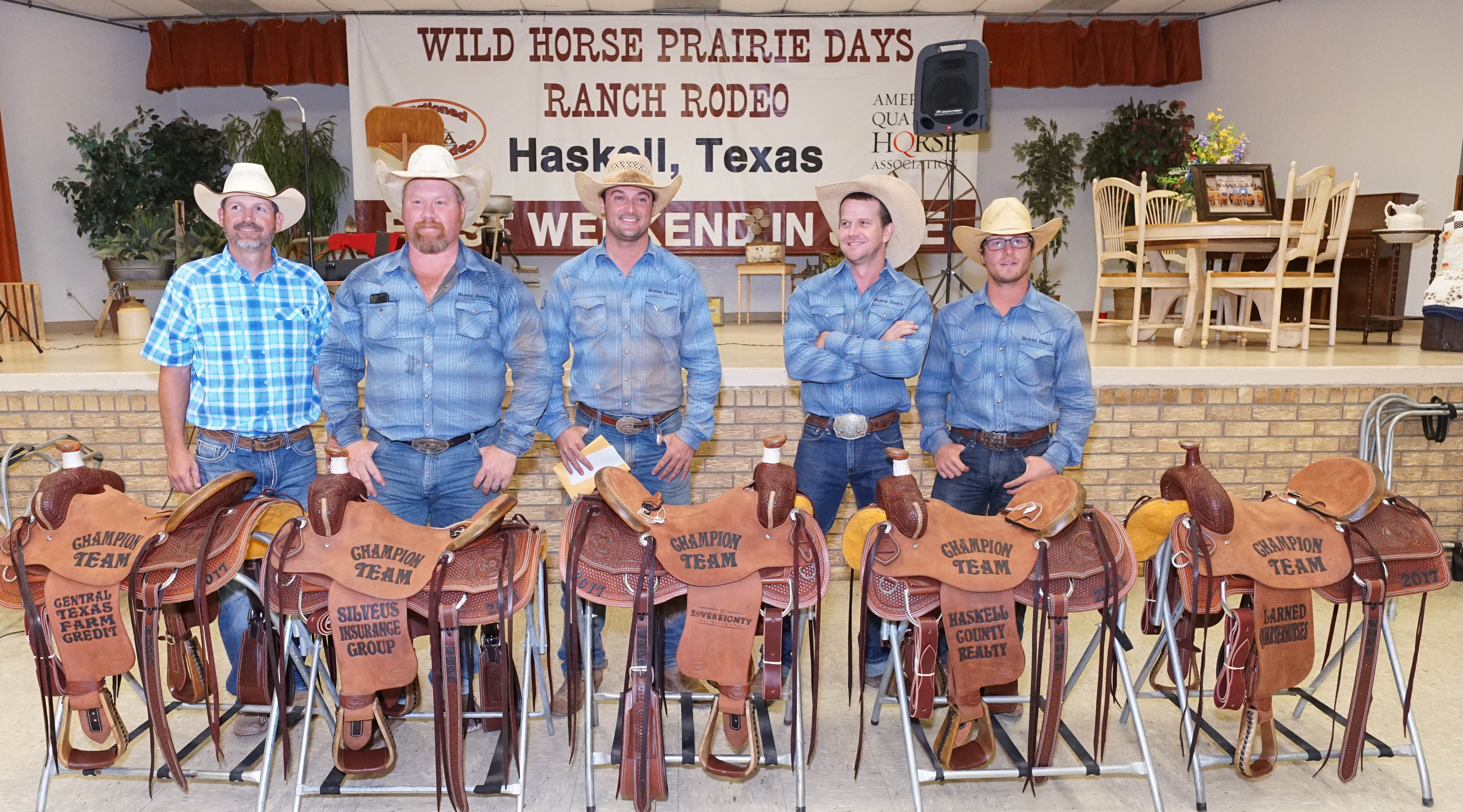 2017 Wild Horse Prairie Days Official Results Winning Team