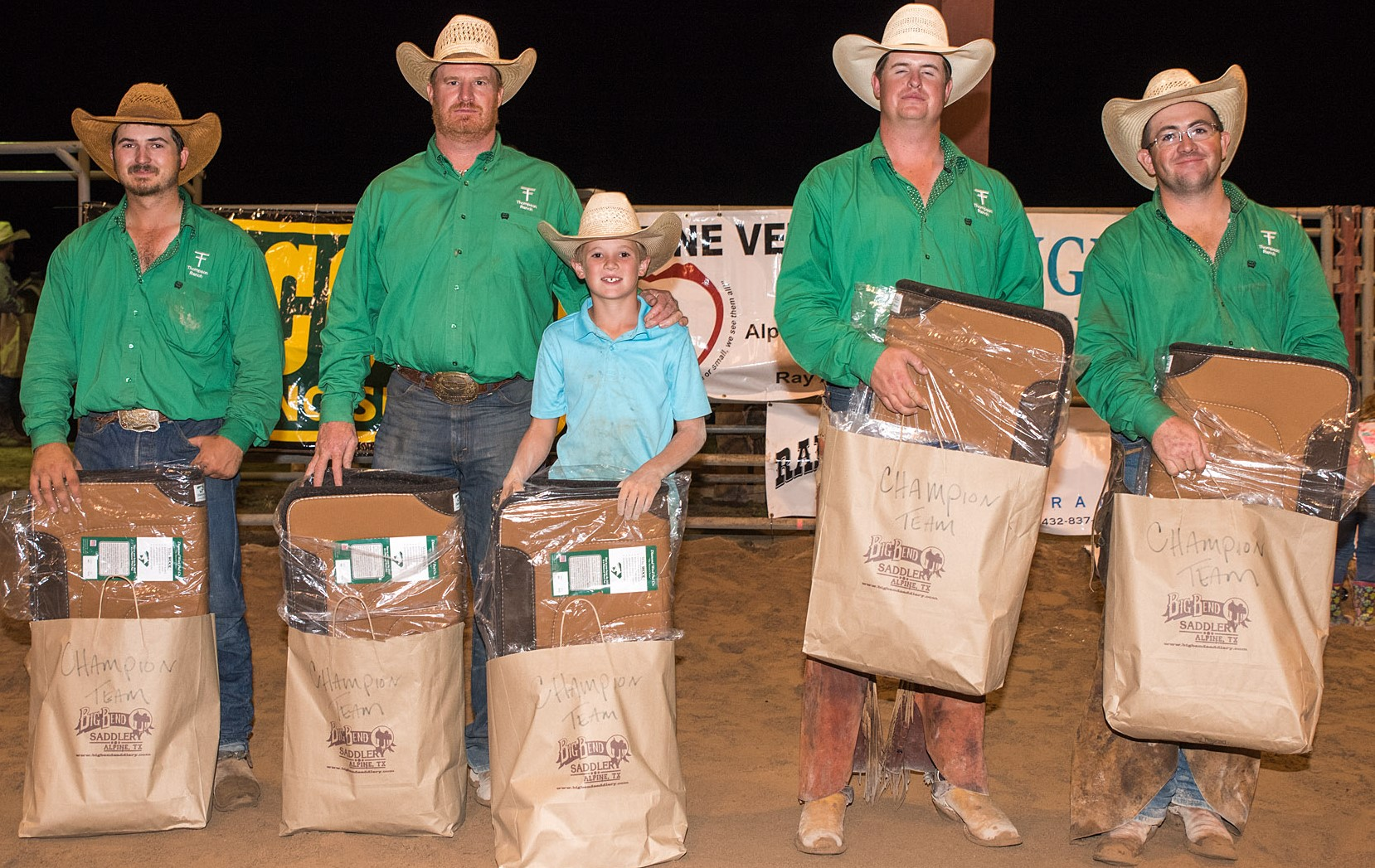 Thompson Ranch - First Place Ranch Team - 2017 Big Bend of Texas Ranch Rodeo