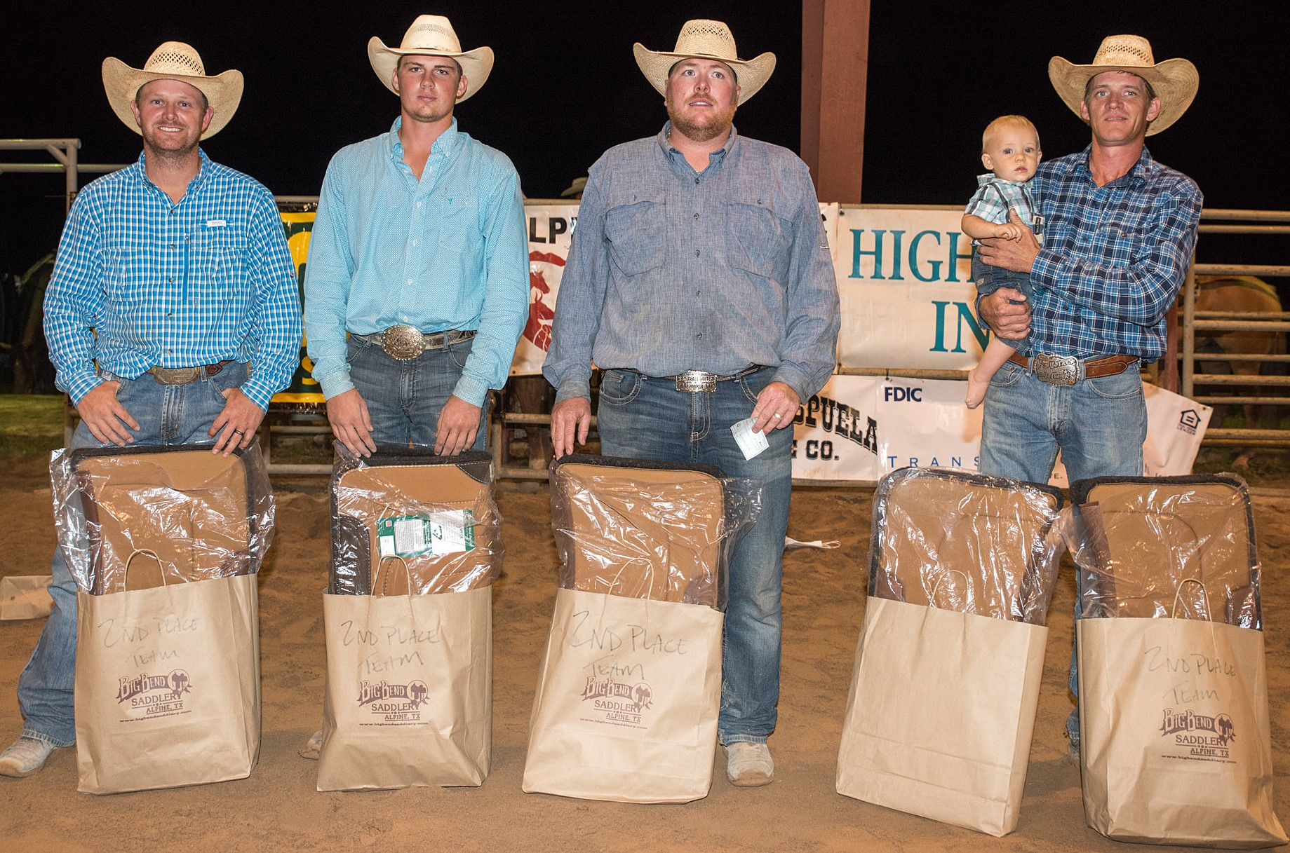 Diamond H / Plus C Cattle - Second Place Ranch Team - 2017 Big Bend of Texas Ranch Rodeo