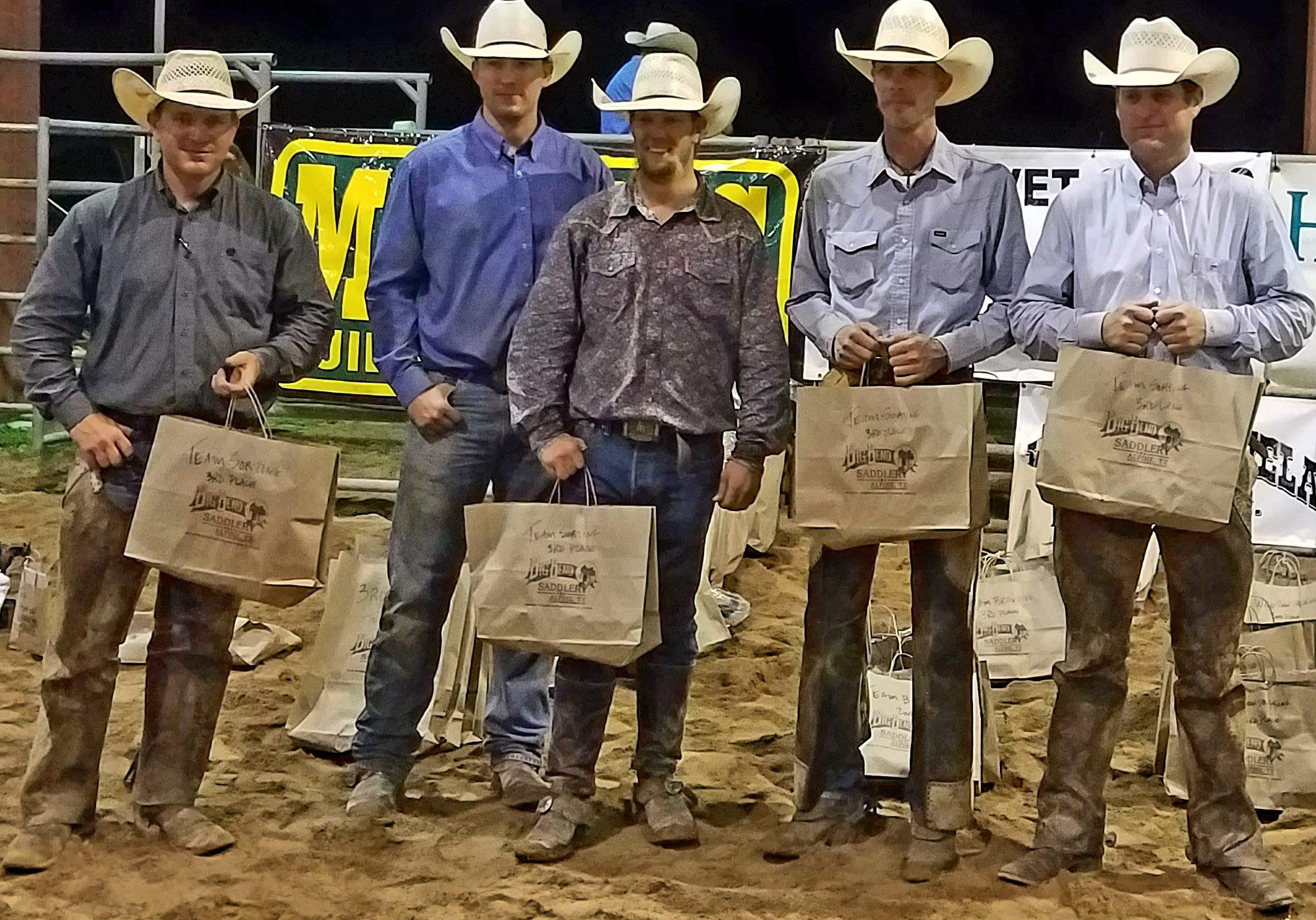 Angell Ranch - Third Place Ranch Team - 2017 Big Bend of Texas Ranch Rodeo