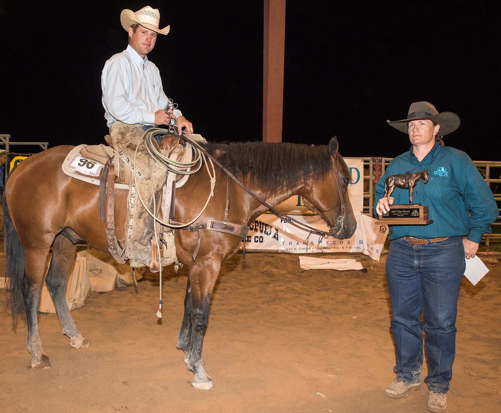 JMP Ethan, Ridden By: Bill Angell, Angell Ranch, Owned by: Angell Ranch - Top Horse - 2017 Big Bend of Texas Ranch Rodeo