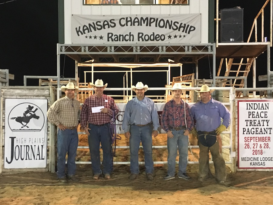 2017 Kansas Championship Ranch Rodeo Winning Team: C5T/Scribner - David Scribner, Brett Cloud, Daniel Scribner, Luke Igo