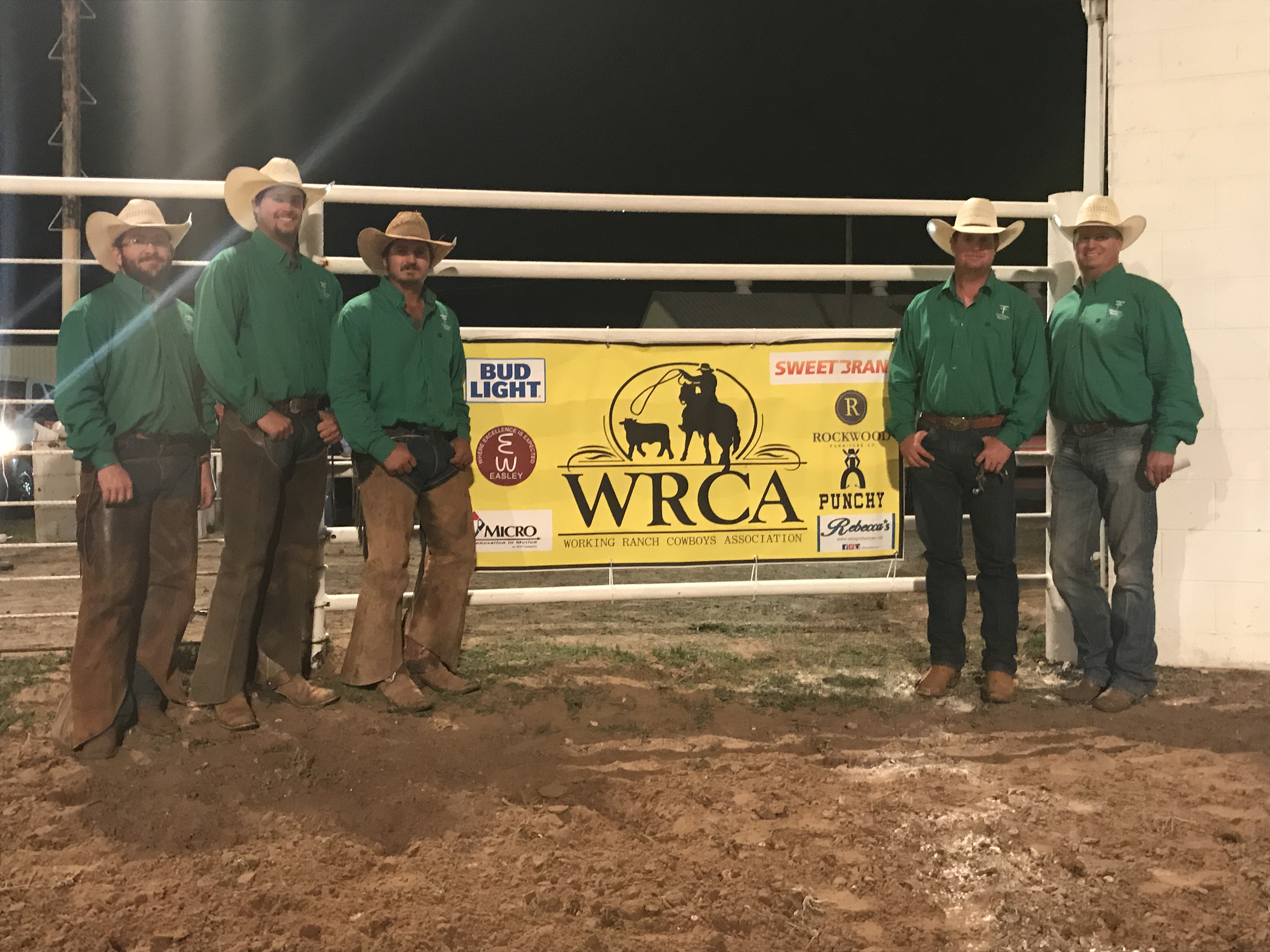 2017 Earth Ranch Rodeo First Place Ranch Team Thompson Ranch (Already Qualified), Munday, Texas. Team Members: Tyler Thompson, Chace Thompson, Tyson Thompson, Trey Thompson, Chad Williams, Kolton Burnett