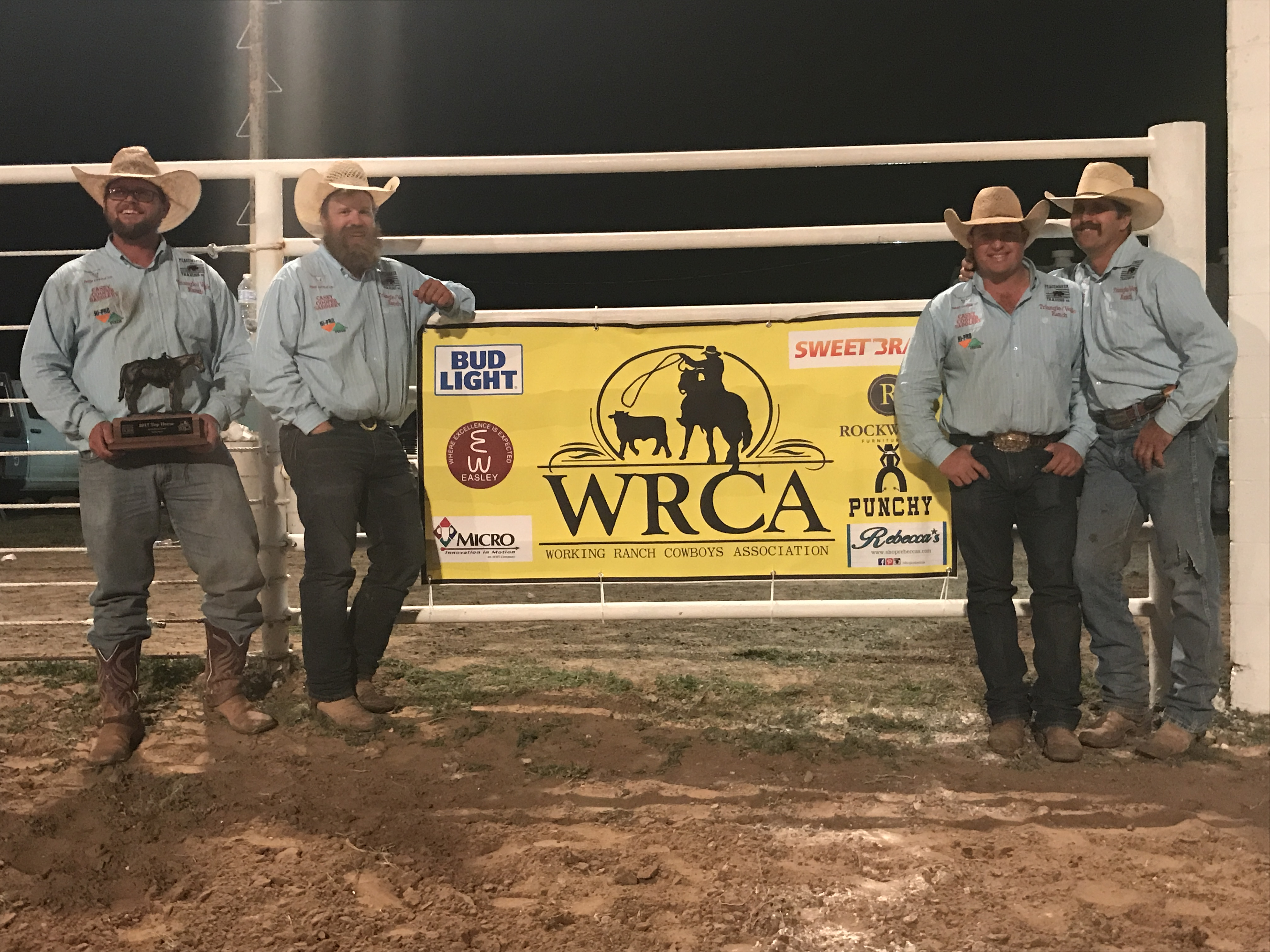 2017 Earth Ranch Rodeo Third Place Team: Veale Ranch / Triangle Ranch (Already Qualified) Paducah and Benbrook, Texas
