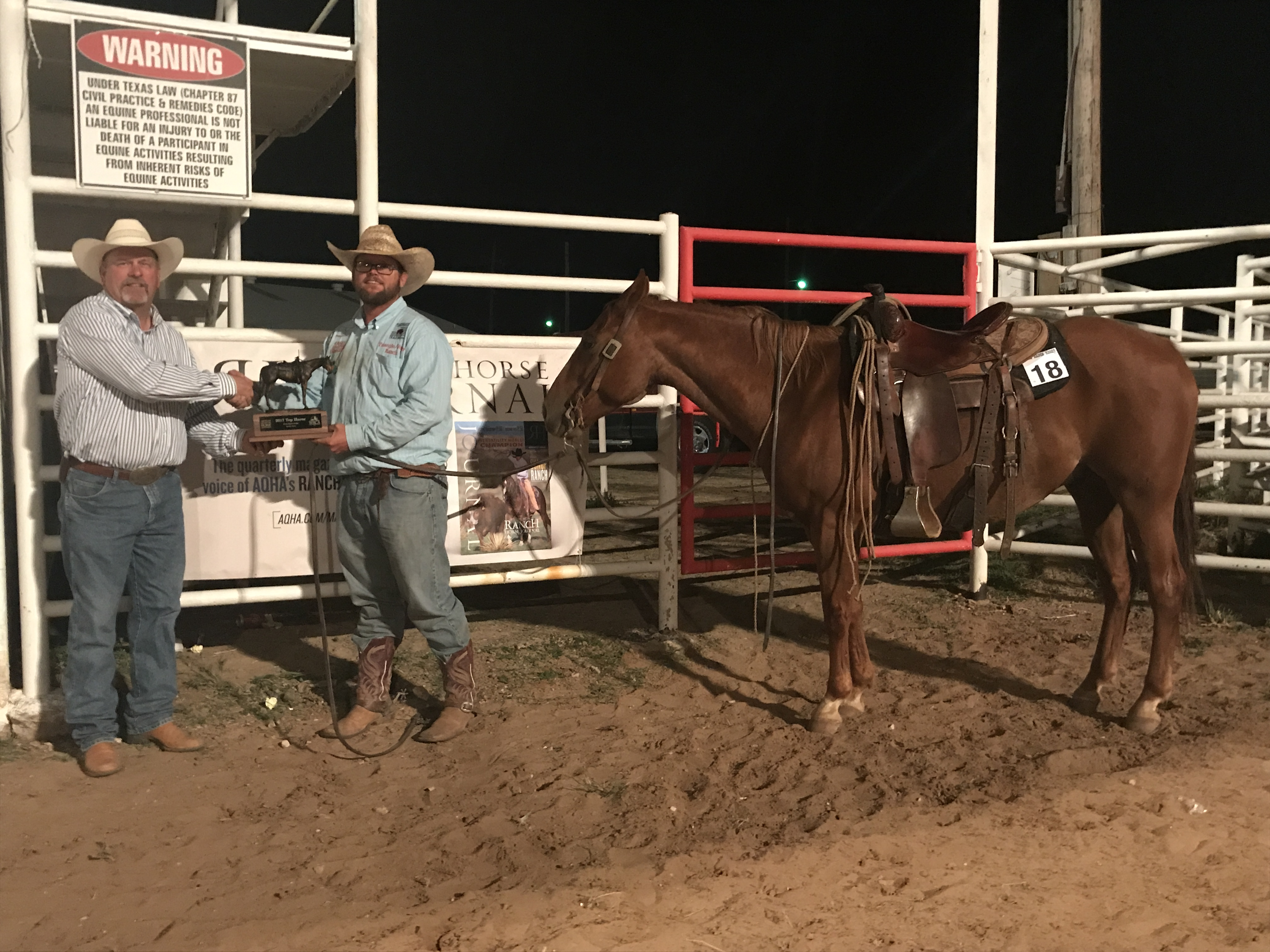 2017 Earth Ranch Rodeo Top Horse: CSR Pepto Stormy. Ridden By: JB Miller, Veale Ranch / Triangle Ranch. Owned by: JB Miller