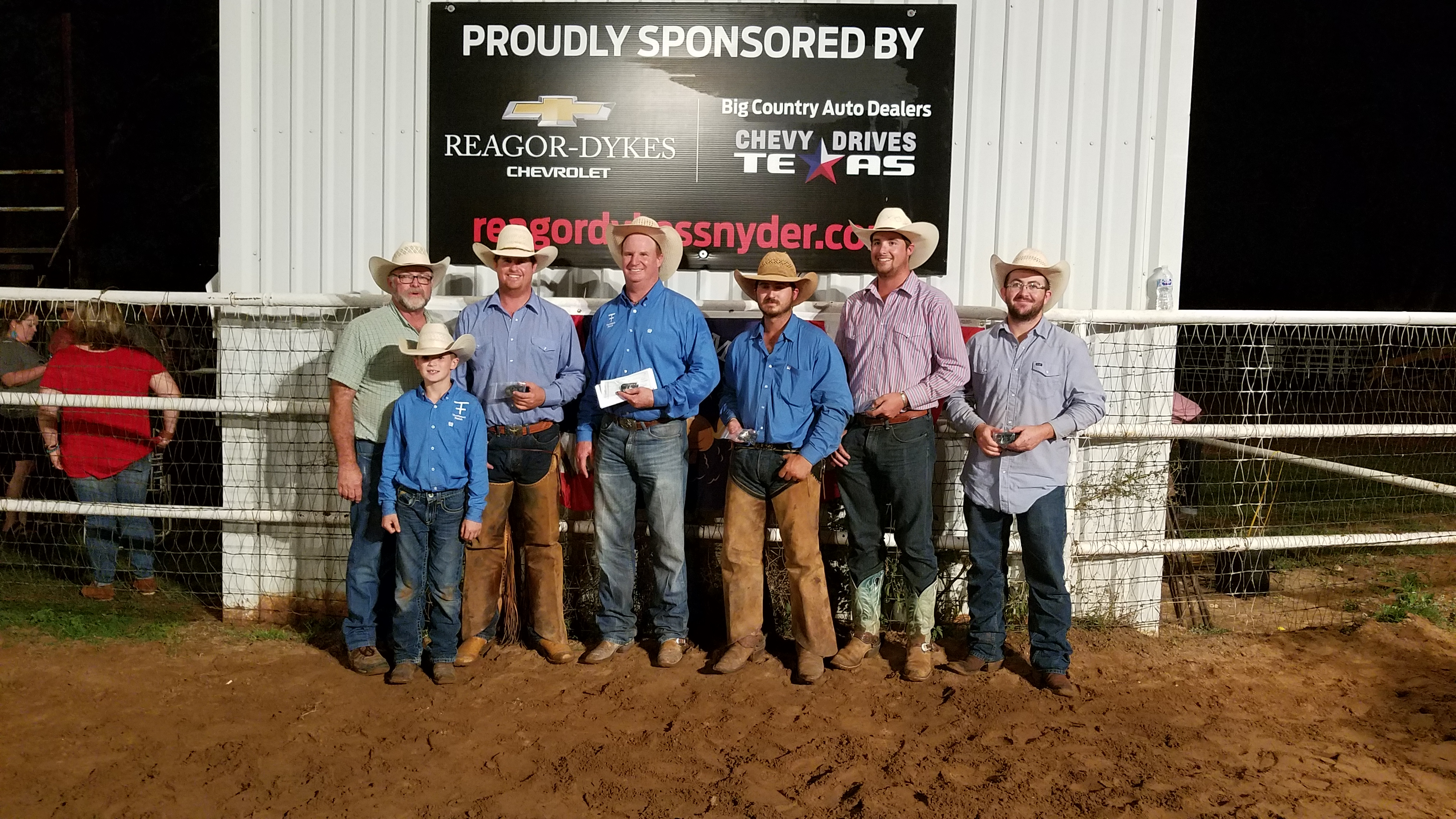 2017 Old Settler's Reunion Ranch Rodeo First Place Ranch Team: Thompson Ranch