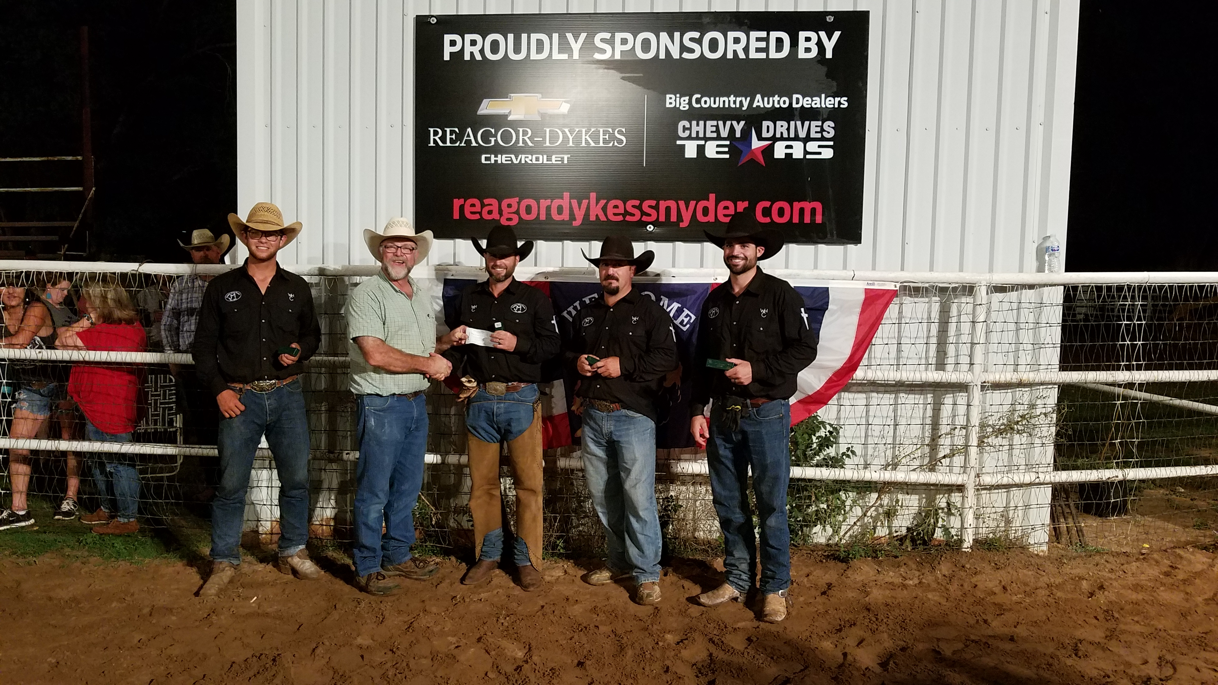 2017 Old Settler's Reunion Ranch Rodeo Second Place Ranch Team: Tongue River Ranch