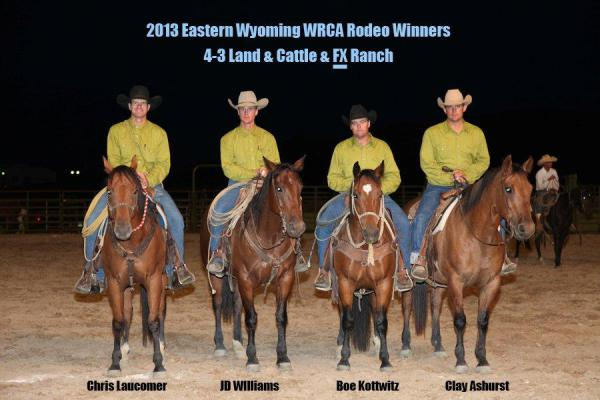 2013 Eastern Wyoming Ranch Rodeo Official Results